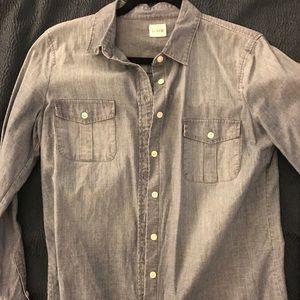 Jcrew cotton long sleeve chambray perfect shirt